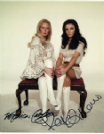 Kate O'Mara & Veronica Carlson  Hammer Horror Stars rare signed 10 by 8